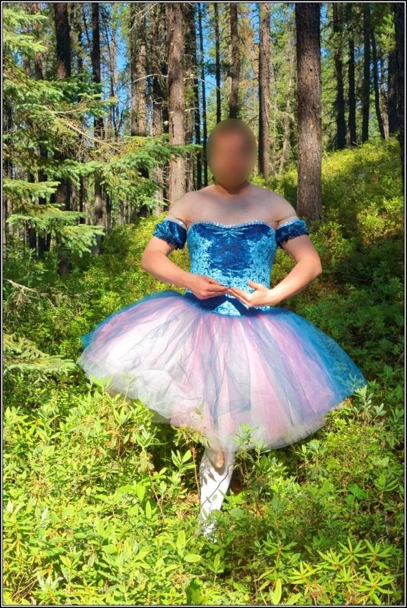 Wonderful blue velvet tutu, Romantic,tutu,ballerina,ballet,outdoor,crossdresser,forest,velvet, Feminization,Fairytale,Body Suits,Sissy Fashion