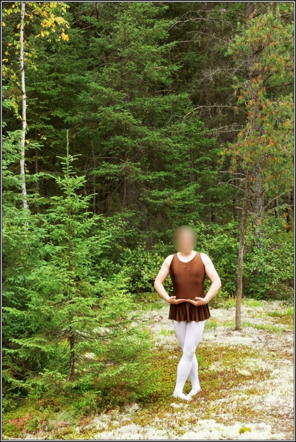 Chocolate leotard - Part 1, leotard,skirted,chocolate,forest,wood,outdoor,crossdress, Body Suits,Sissy Fashion,Fairytale