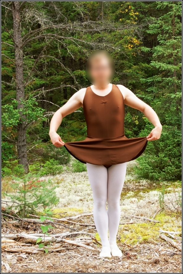 Chocolate leotard - Part 2, leotard,skirted,chocolate,forest,wood,outdoor,crossdress, Sissy Fashion,Body Suits,Fairytale