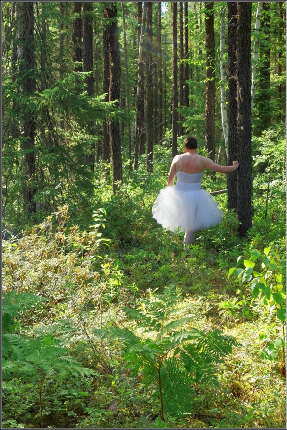 White romantic - Part 2, ballerina,tutu,romantic,ballet,outdoor,crossdresser,forest, Fairytale,Body Suits,Sissy Fashion