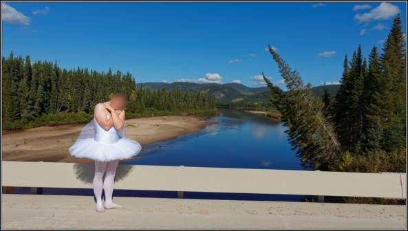 Sissy ballerina 5 - The bridge - Part 1 - Sissy ballerina found a bridge to cross the river, ballerina,tutu,platter,ballet,outdoor,crossdresser,forest, Sissy Fashion,Fairytale,Body Suits