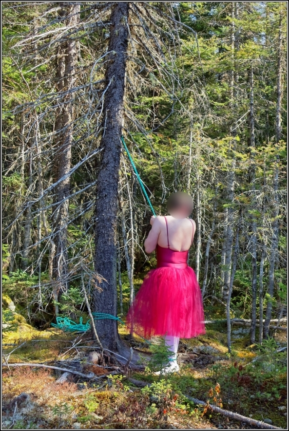 Forest ballerina 2 - Trapped - Part 2, bondage,ballet,ballerina,sissy,forest, outdoor,tutu,romantic,tied, Body Suits,Sissy Fashion,Fairytale,Bondage