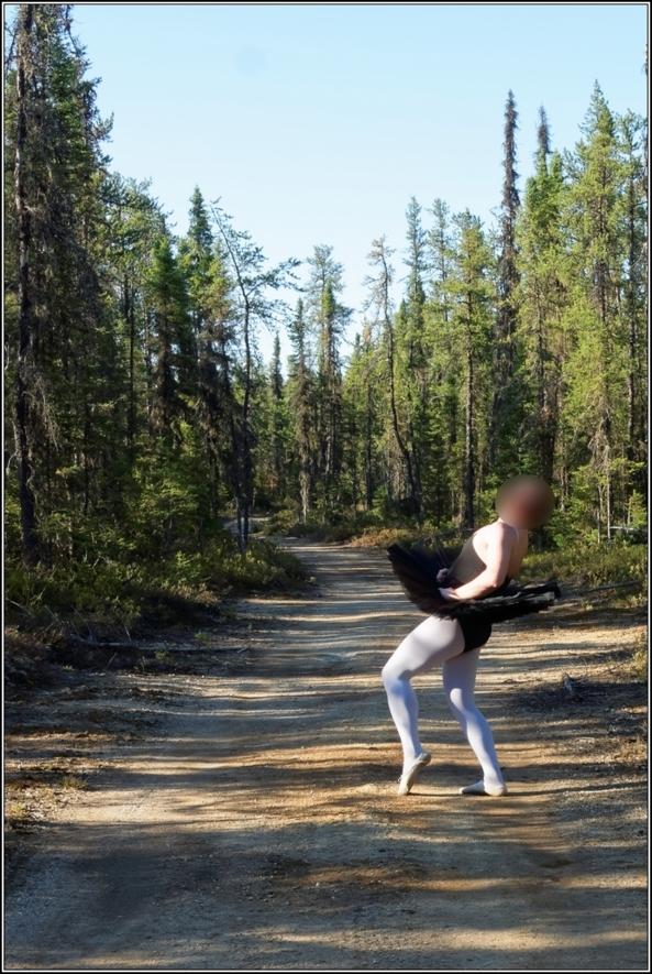 Black tutu 2 - Part 1, ballet,ballerina,sissy,forest,outdoor,tutu,platter,black, Body Suits,Sissy Fashion,Fairytale