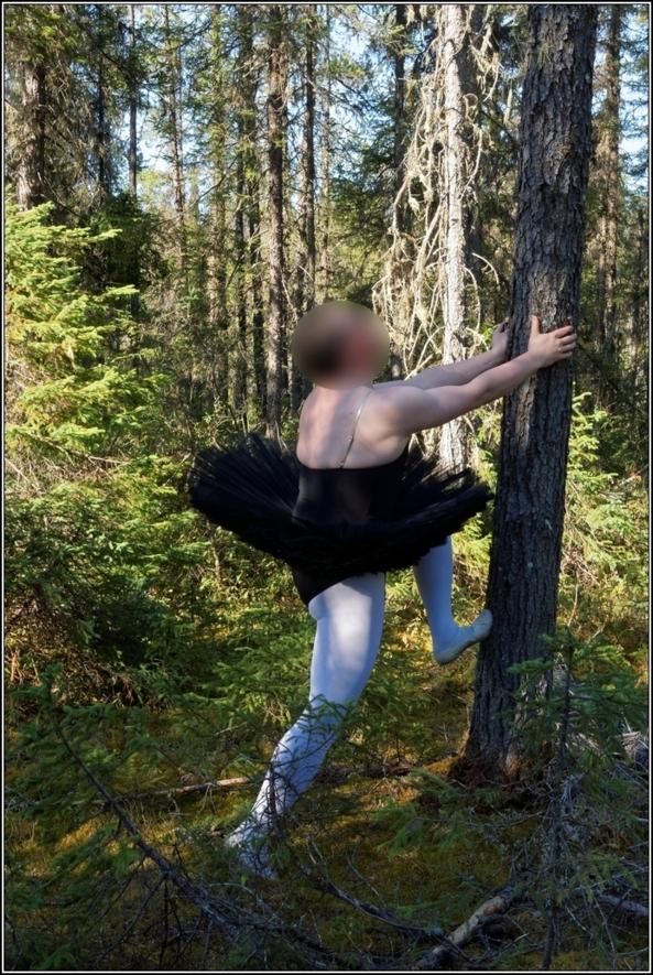 Black tutu 2 - Part 2, black,platter,tutu,outdoor,forest,sissy,ballerina,ballet, Sissy Fashion,Body Suits,Fairytale