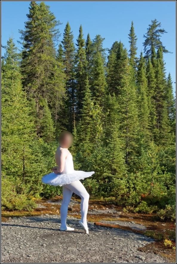 Sissy Ballerina 6 - Forrest - Part 1, ballerina,tutu,platter,ballet,outdoor,crossdresser,forest, Body Suits,Sissy Fashion,Fairytale