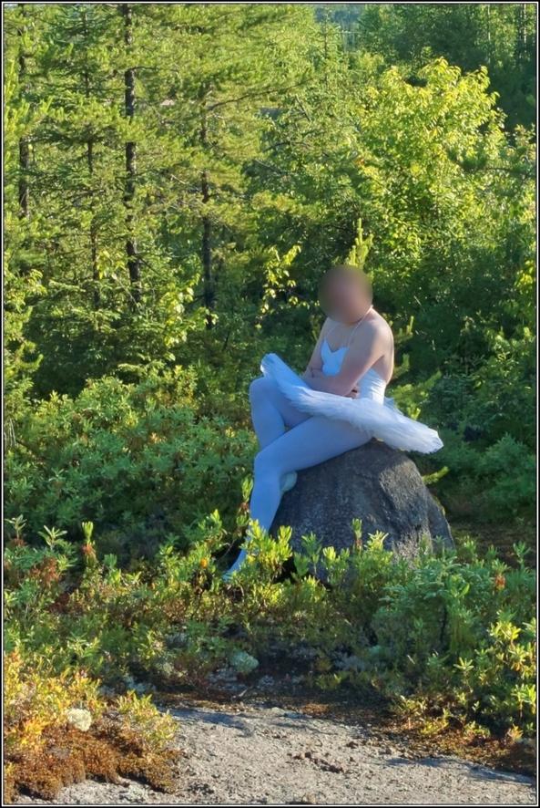 Sissy Ballerina 6 - Forrest - Part 2, ballerina,tutu,platter,ballet,outdoor,crossdresser,forest, Sissy Fashion,Fairytale,Body Suits