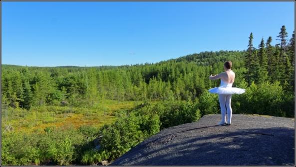 Sissy ballerina 7 - On the rock - Part 2, crossdresser,outdoor,ballet,platter,tutu,ballerina,forest, Sissy Fashion,Body Suits,Fairytale