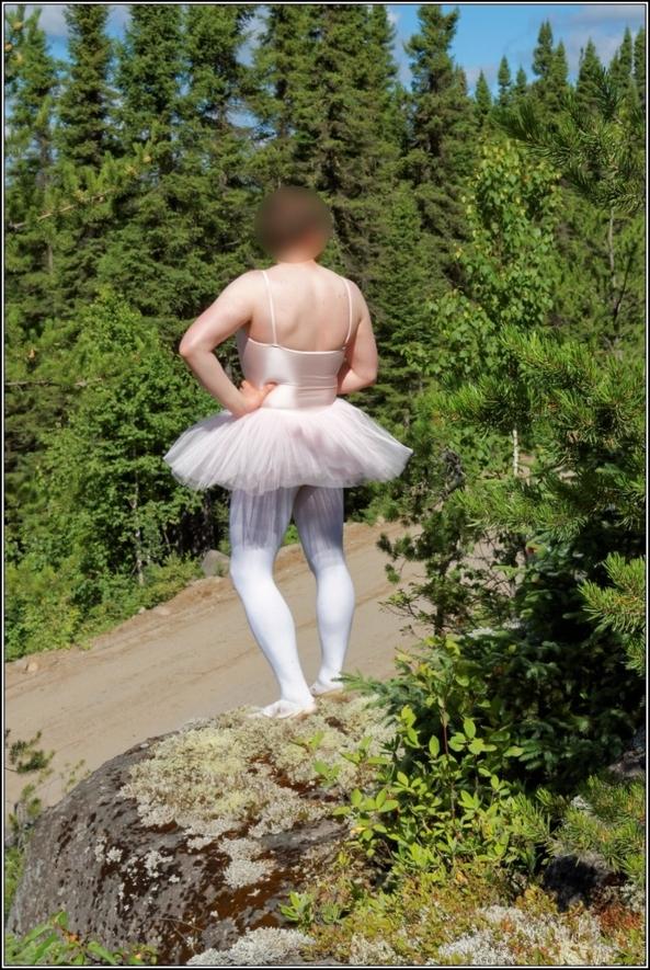 Pink tutu - part 2, ballerina,pink,tutu,platter,ballet,outdoor,crossdresser,forest, Sissy Fashion,Body Suits,Fairytale