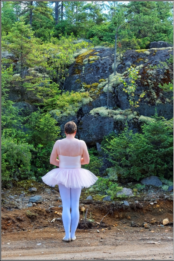 Pink tutu 3 - Part 1, ballerina,pink,tutu,platter,ballet,outdoor,crossdresser,forest, Body Suits,Sissy Fashion,Fairytale
