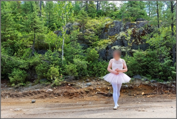 Pink tutu 3 - Part 2, ballerina,pink,tutu,platter,ballet,outdoor,crossdresser,forest, Sissy Fashion,Body Suits,Fairytale