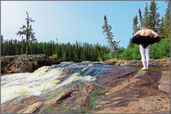 Black tutu 4 - Waterfall - Part 1, ballet,ballerina,sissy,forest,outdoor,tutu,platter,black,waterfall, Sissy Fashion,Body Suits,Fairytale