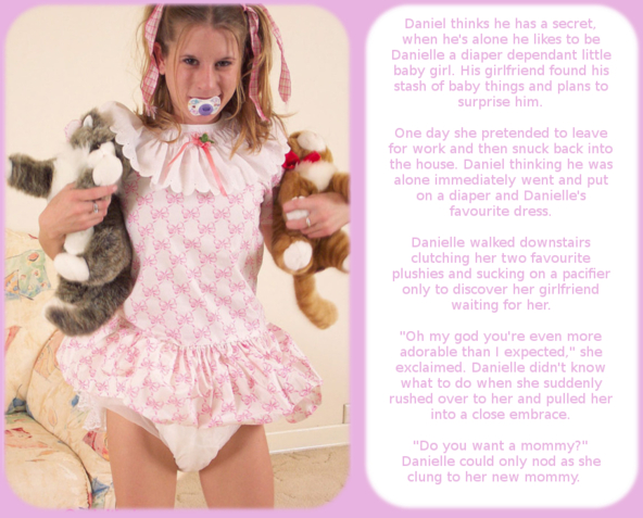 My first cappie, adult baby,mommy, Adult Babies,Diaper Lovers,Feminization