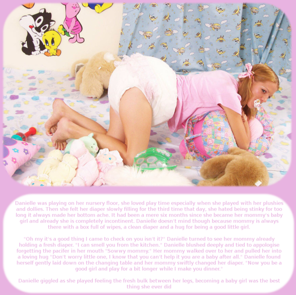 Baby Danielle part 3 - Here's another cappie from me, Adult Babies,Diaper Lovers,Feminization
