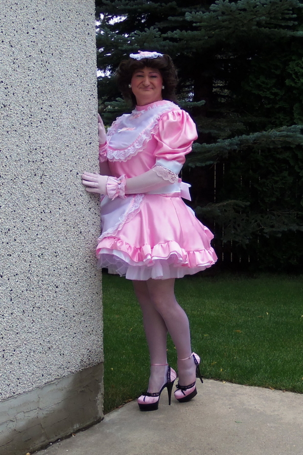 PFD 001 - Frilly High Neck Sissy Dress, Sissy,SissyMaid, Sissy Fashion,Dolled Up