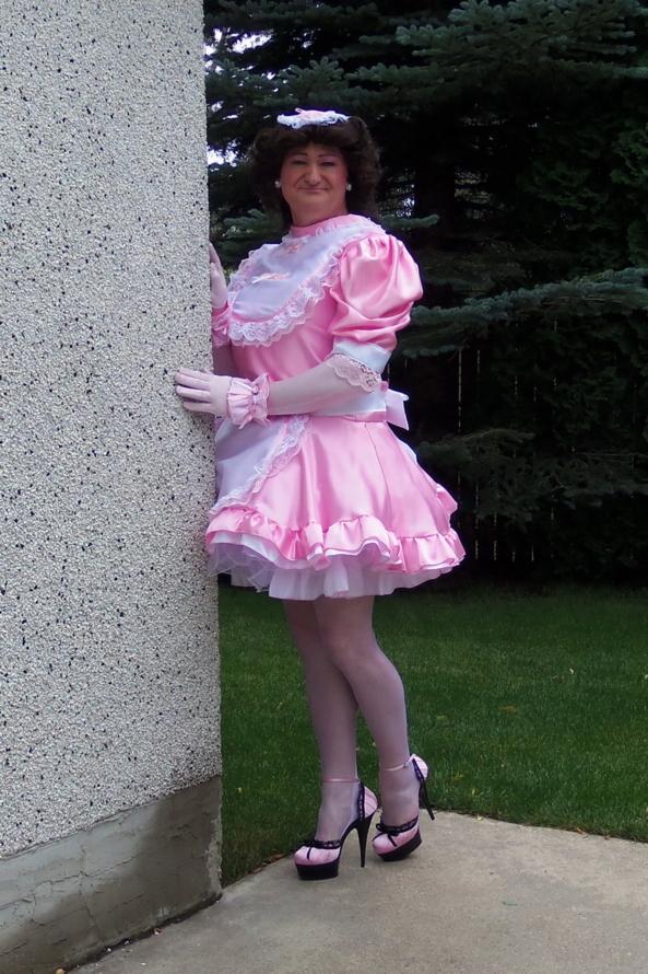 PFD 001 - Frilly High Neck Sissy Dress, Sissy,SissyMaid, Sissy Fashion,Dolled Up