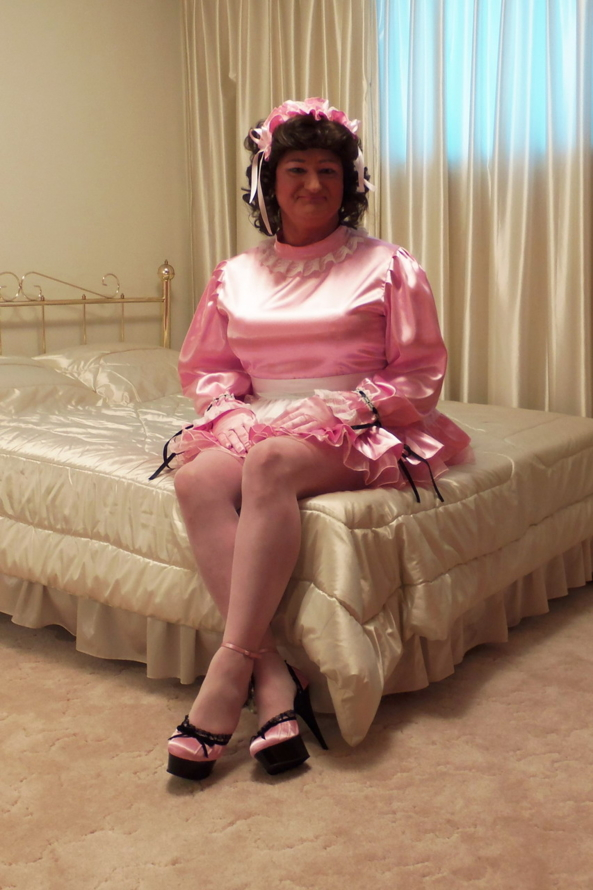 Satin Sissy Dress 136 - Sitting Pretty, Sissy,Sissymaid, Sissy Fashion,Dolled Up