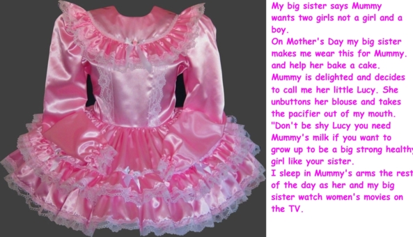 Mother's day - Today, Sunday 6th of March 2016 is Mother's Day here in the UK., breastfeeding,little girl,fantasy,age regression,adult baby,maid,dress, Adult Babies,Feminization,Breast Feeding,Dolled Up,Sissy Fashion