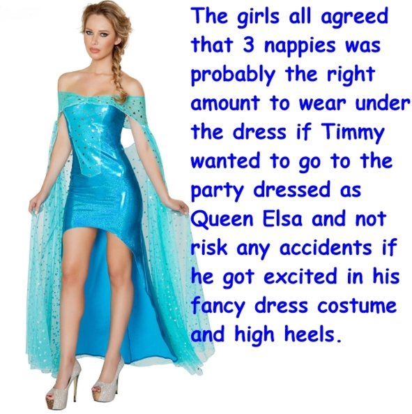 Fany dress party, Queen Elsa,Frozen,Disney,Princess,Queen,Diapers,Fancy Dress,High Heels, Pop Culture,Dolled Up,Sissy Fashion