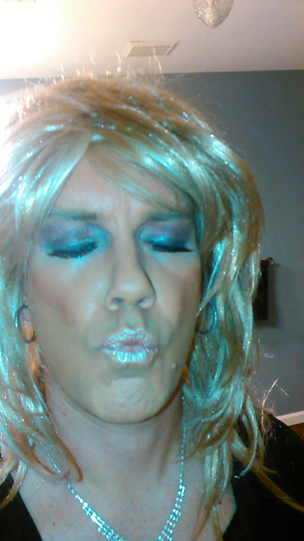 Just me, Kiss,lips,blonde,lipstick, Dolled Up
