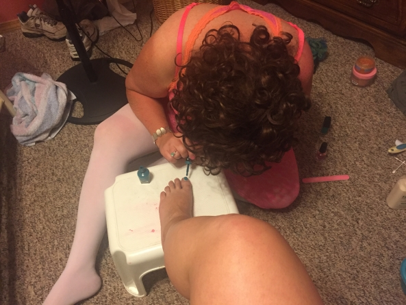 Sissy Stephie serving, Pedicure, Feminization