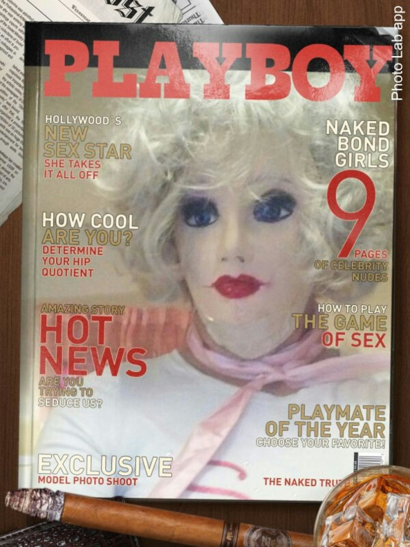 the cover of a magazine - Dollie meets the Hef, playboy bunny,sissy doll, Adult Babies,Diaper Lovers,Thumb Sucking,Str8 Orientation,Dared Or Bets,Dolled Up,Sissy Fashion,Pop Culture