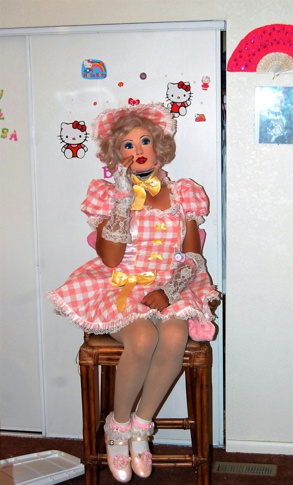 Stuck - Dollie is glued into a dollsuit and mask, you decide her fantasies fate, what kind of glue was used, how much was used, who glued it om her and how long is she Stuck  as a doll?, Permabondage,Super doll,Dolliesissy,elmers sissy,bondini baby, Adult Babies,Body Suits,Dominating Mistress Or Master,Dolled Up,Mind Altering,Identity Swap,Sissy Fashion,Diaper Lovers