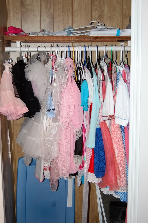 What to wear? - Please help me pick one of my outfits for my next video, What to wear,sissy fashions,adult baby clothes,sissy clothges,closet full of dresses, Adult Babies,Thumb Sucking,Feminization,Wetting The Bed,Diaper Lovers,Dolled Up,Sissy Fashion