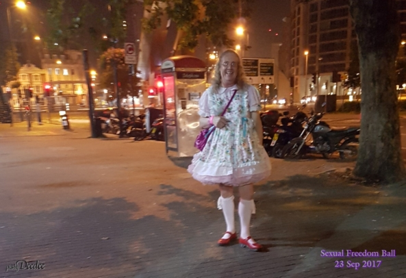 The only sissy at the Ball - My latest Outing - I was the only sissy there, sissy dress,street, Sissy Fashion