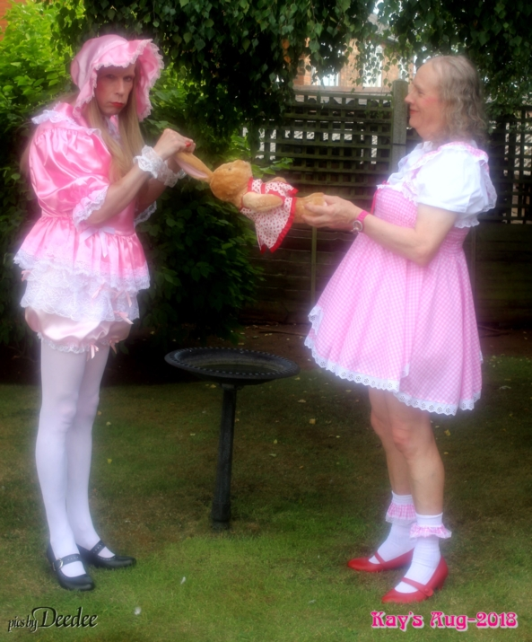 Deedee and Kay Kandyfloss pull a bunny - Deedee recently visited Kay at her mansion deep in north of England countryside for some photographic fun , bunny,sissies,Deedee,Kay, Sissy Fashion,Dolled Up,Diaper Lovers