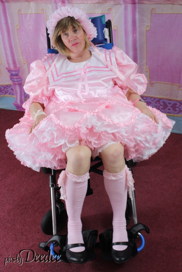 Deedee in Stroller - Deedee in stroller from Huggy's set, Sissy,Stroller,Huggy's,kneesocks, Adult Babies,Sissy Fashion