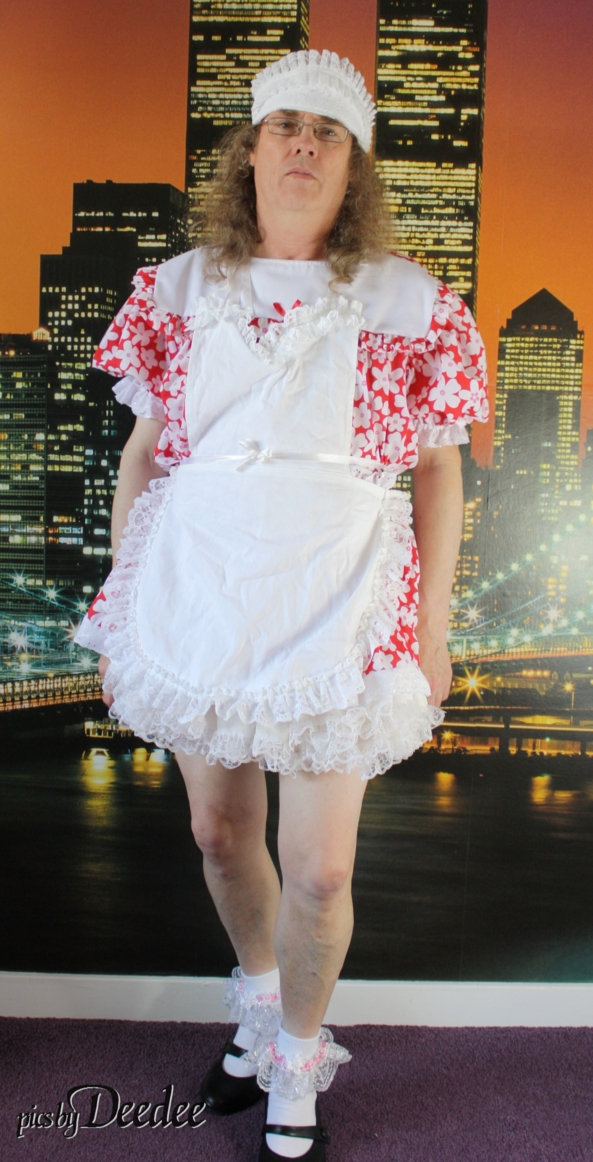Twin towers - Another from Huggy's - flowery maid dress, Sissy,Huggy's, Sissy Fashion