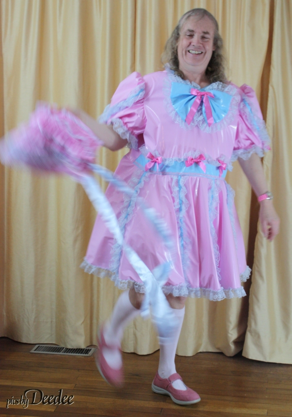 Plastic dress - Huggy's set - pink and blue plastic dress, PVC dress,Huggy's,sissy, Sissy Fashion,Feminization