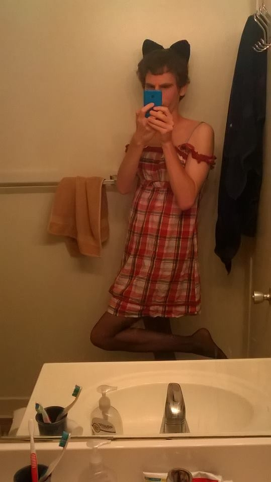 Me in my sun dress and pantyhose, Pantyhose,Dress, Sissy Fashion