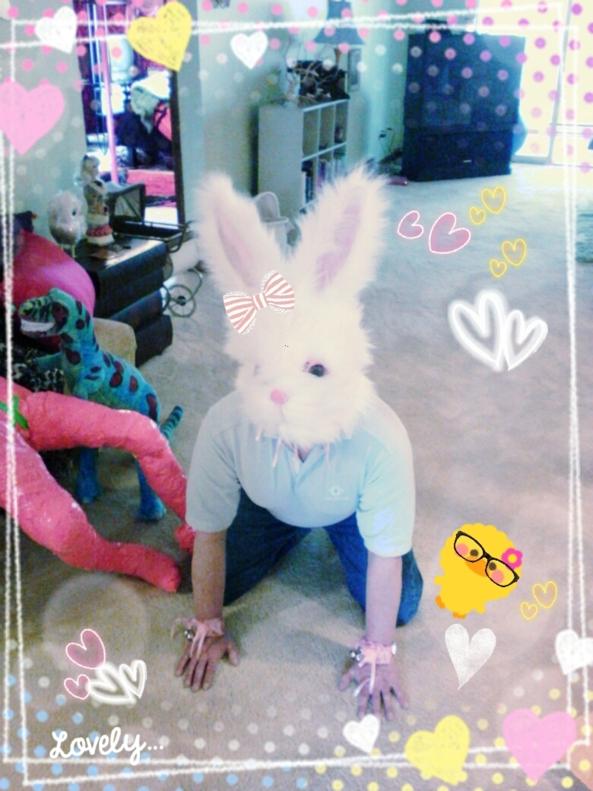 Sissy bunny 1, sissy pet,bunny, Holiday