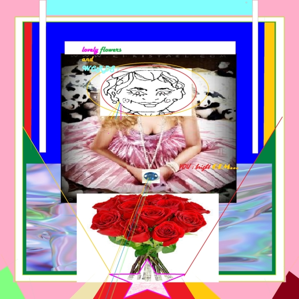 WE, THE ROSE GARDEN ...COLLAGE - A MESSAGE HOPEFUL TO A NEW WORLD, a rose is a rose,gertrude stein,lovely best wishs,message for tgs and all sisters, Feminization
