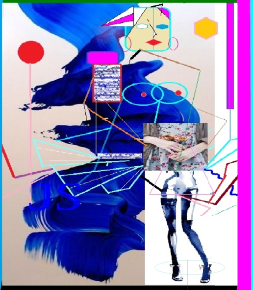 BASIC LITLLE BLUE DRESS ( TWO) - FASHION AND POEMS ( MARCH/8/2017: CONGRATS GIRLS !...AND ALL THAAT LOVE FEM WAYS ), FEM ARTS,FASHION COLLAGES,MARCH /8 CONGRATS,ROBERT BURNS,POETRY,LOUIS SATCHMOUTH, Feminization