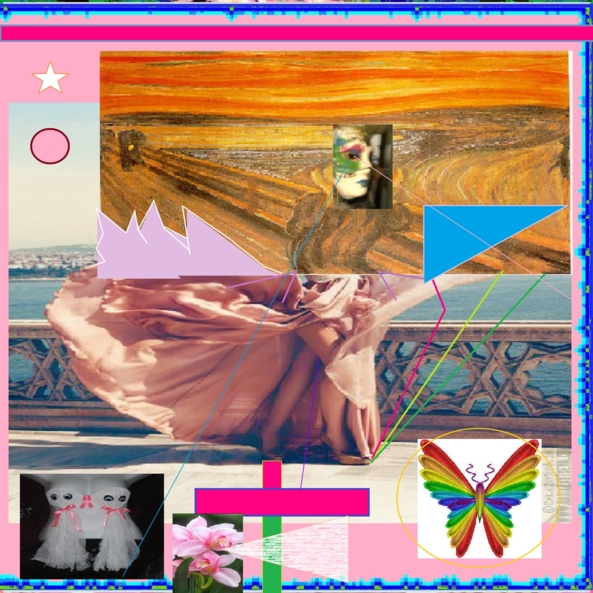 THE SCREEM RELECTURES (I) - MODERN POS POP COLLAGE, MODERN POS NEW DG POP ART,THE SCREEM MUNCH,VISUAL  RELECTURES,SERIE, Feminization