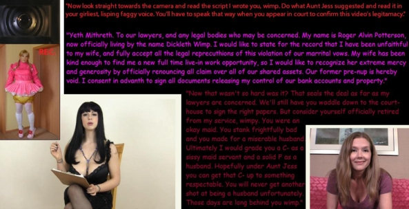 Humiliated Sissy Husband Part 7, sissy,maid,loser, Dominating Mistress Or Master