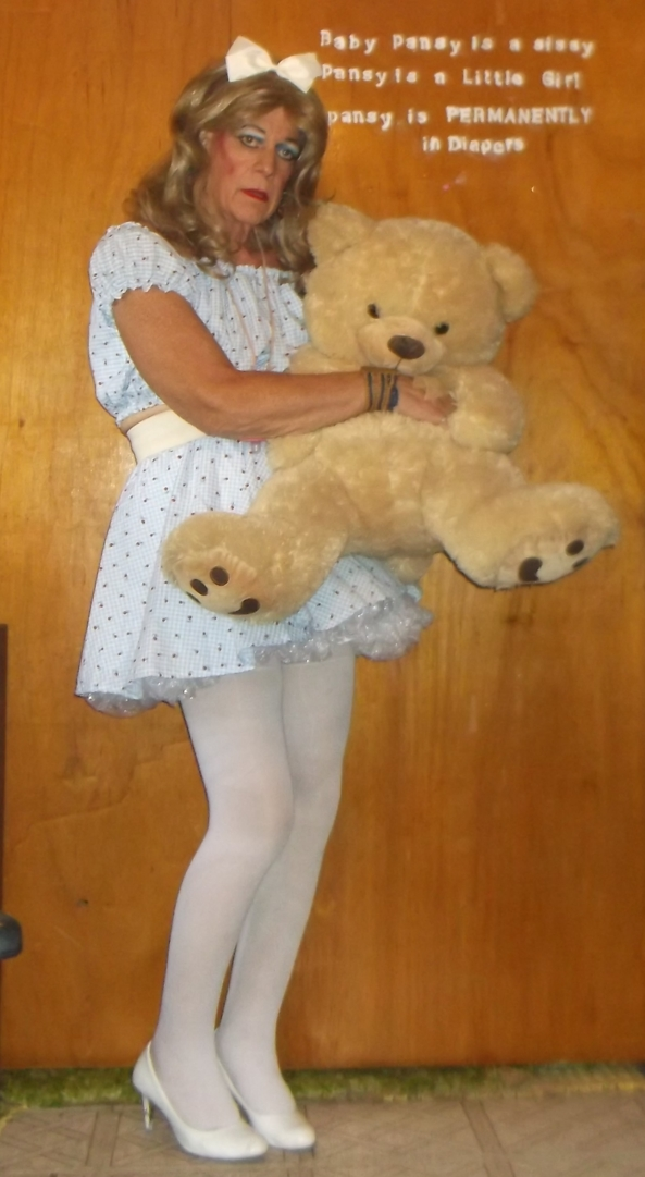 sissy pansy's newest LIttle girl Dress - sissy pansy's Master decided to have pansy more like a