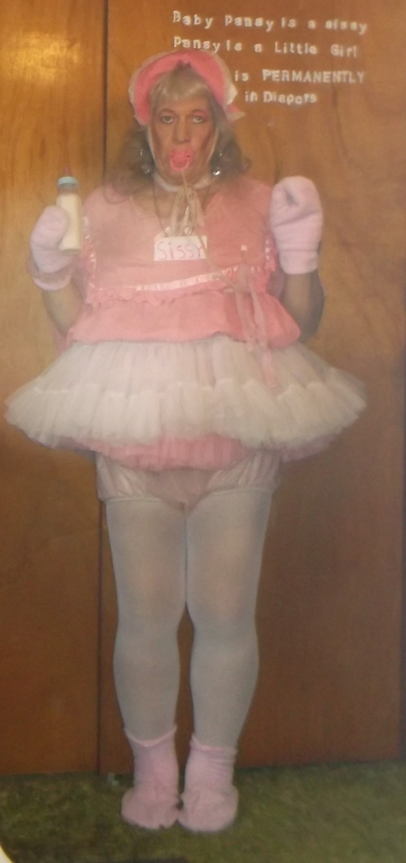sissy pansy in one of its most babyish outfits - there is no denying that pansy is a sissybaby, just look at the outfit the sissy is wearing today. A TS friend of pansy's MASTER thinks pansy should be regressed down even further, to maybe a 1 or 2 year-old little girl , sissy,adult baby,humiliation,age regression, Adult Babies,Feminization