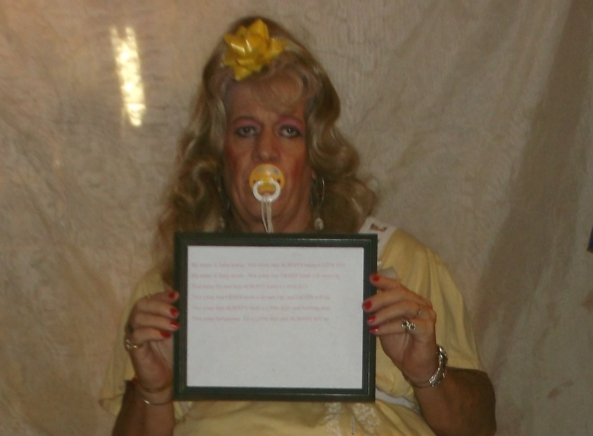 babypansy's sissy Mantra  - At least 3 times a day, babypansy is instructed to recite its sissy