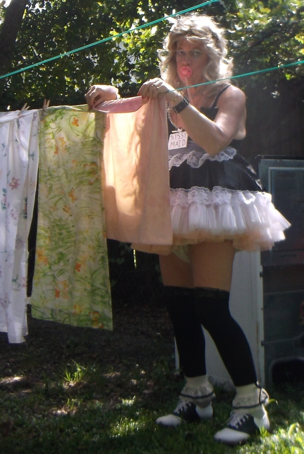 sissy pansy is taking a break from Radiation Therapy - pansy is home from the Cancer Center, and Master quickly gives the sissy some chores. Master also noticed just how thin the sissy's hair is, so the sissy will now be wearing a wig, (He plans to have it permenantly affixed to his scalp. , sissy,humiliation,sissy maid,diapers,adult baby girl, Feminization,Diaper Lovers