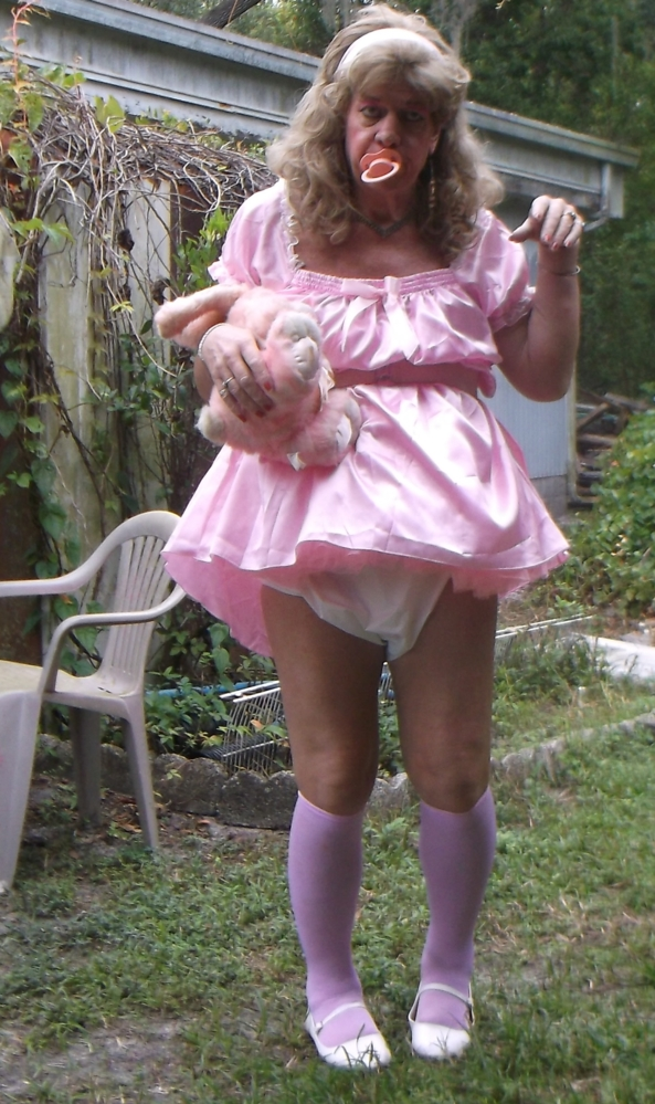 sissy little girl pansy shows us her new pink dress - sissy little girl pansy needs to walk everyday to build up her stamina since the cancer, what would you think if you saw her dressed like a little girl walking past your house? ... pansy hopes you would humiliate her and take pictures of her, sissy,humiliation,adult little girl, Adult Babies,Feminization,Diaper Lovers
