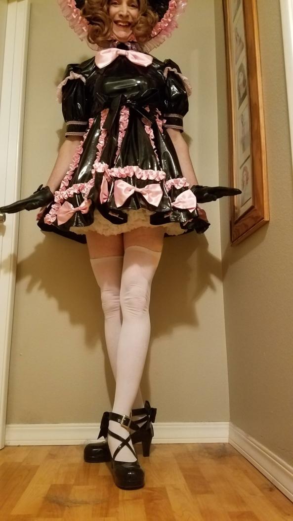 PVC sissy sweetheart dress, pvc,sissy, Adult Babies,Sissy Fashion,Dolled Up