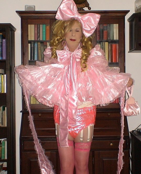 Sissy In Nappies, sissy,pansy,faggot, Dolled Up
