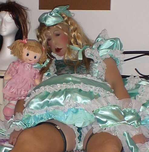 Daily Sissy Photo - two dolls - guess which one is the sissy ..., sissydoll pansy fairy, Sissy Fashion,Dolled Up,Bad Boy To Good Girl