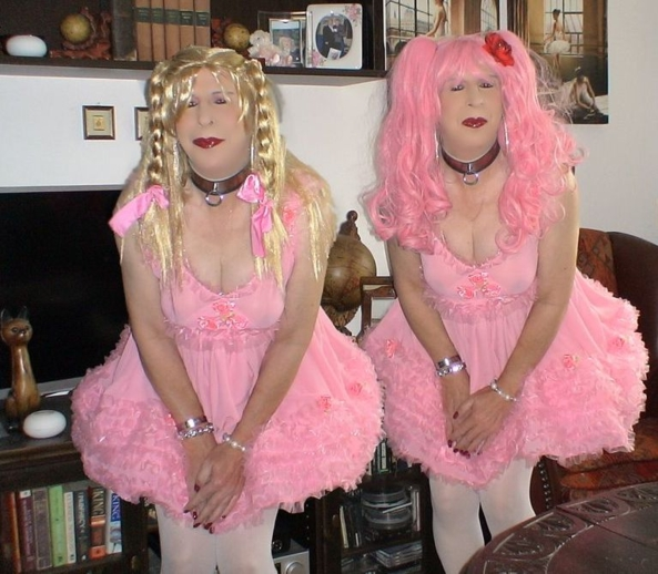 The Sissy Twins - The two twin brothers have been sissyfied by their wicked sister. Put in dresses, locked in steel chastity belts and turned into pathetic pansies they still tend to be bratty bois., sissy,pansy,forced feminization,chastity, Feminization,Sissy Fashion,Dominating Mistress Or Master,Bad Boy To Good Girl
