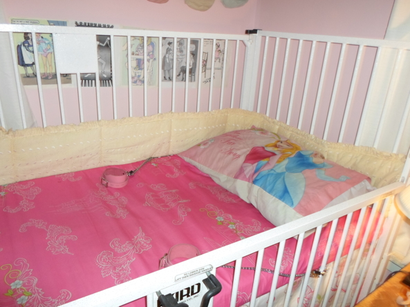 Newest Crib - 36x72 inch Hard hospital crib. Took me years to find one I could afford., Crib, Adult Babies,Diaper Lovers