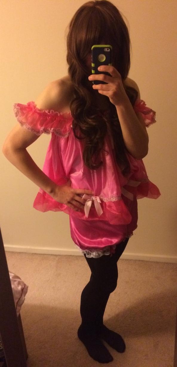 Sissy babydoll.x - Me in my fave outfit.x, Babydoll,sissy,pink,Gwynnie,sub,girly., Feminization,Sissy Fashion