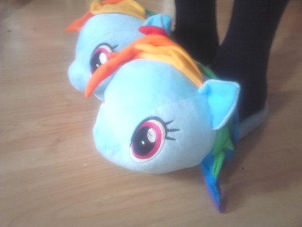 my little pony rainbowdash - i love my new slipper, cute/gurly, Sissy Fashion